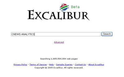 Excalibur Web Search